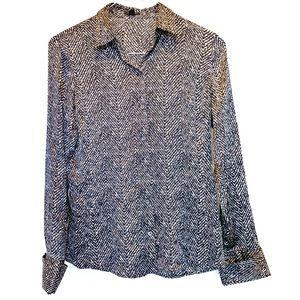 Ann Taylor Silk Button Down Blouse Size 4